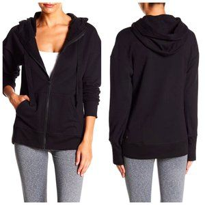 ZELLA Cotton Black Zip up Hoodie